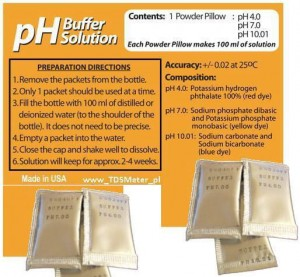 Bufor pH do kalibracji pH-Metr 4 pH, 7 pH lub 10 pH
